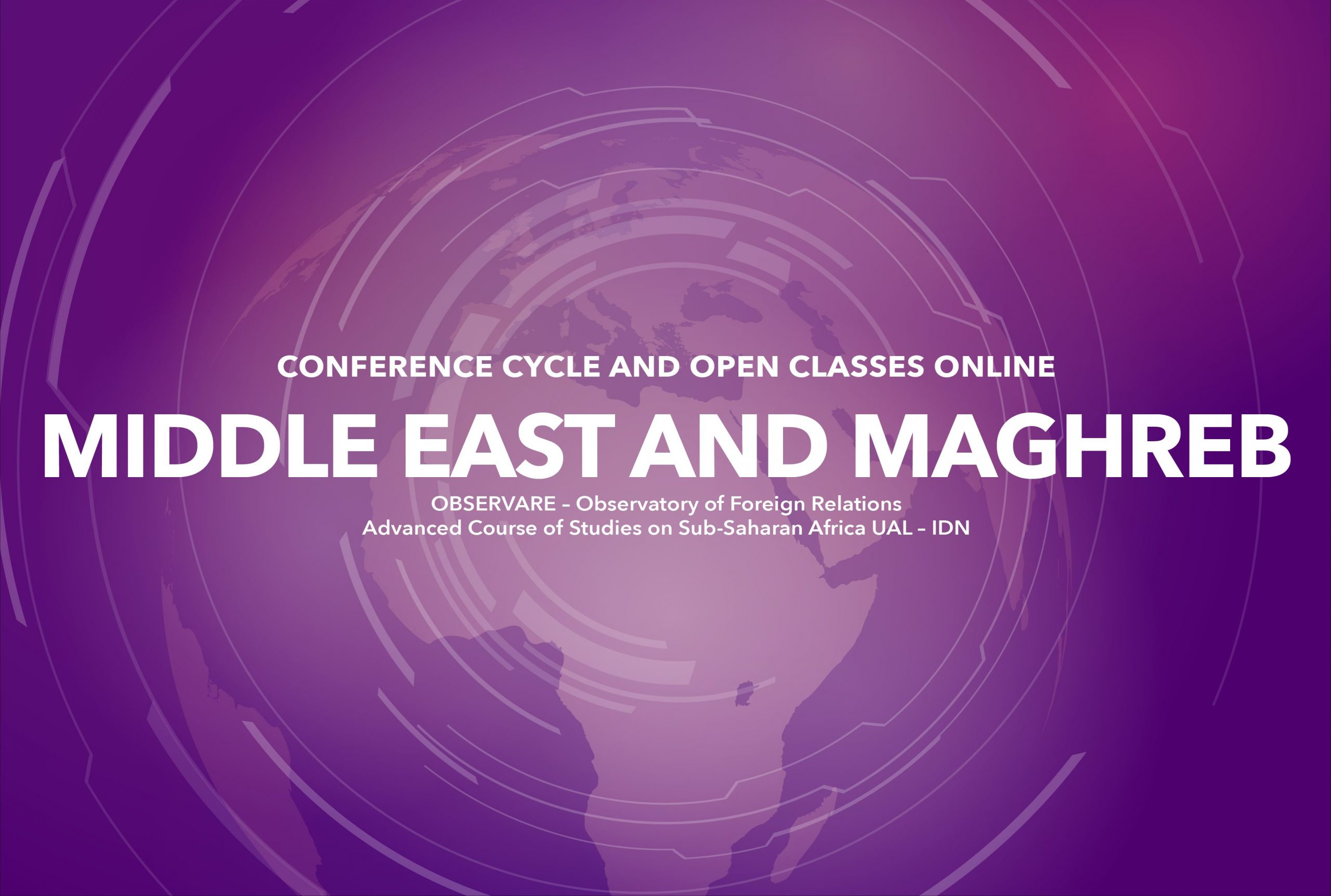"""""""MIDDLE EAST AND MAGHREB""""  – CONFERENCE CYCLE AND OPEN CLASSES 