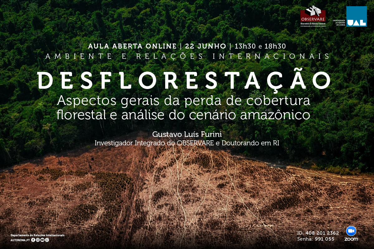 OPEN CLASS: DEFORESTATION – GENERAL ASPECTS OF FOREST COVER LOSS AND ANALYSIS OF THE AMAZON SCENARIO